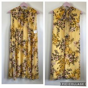 New London Times Sz 14 yellow floral breezy dress